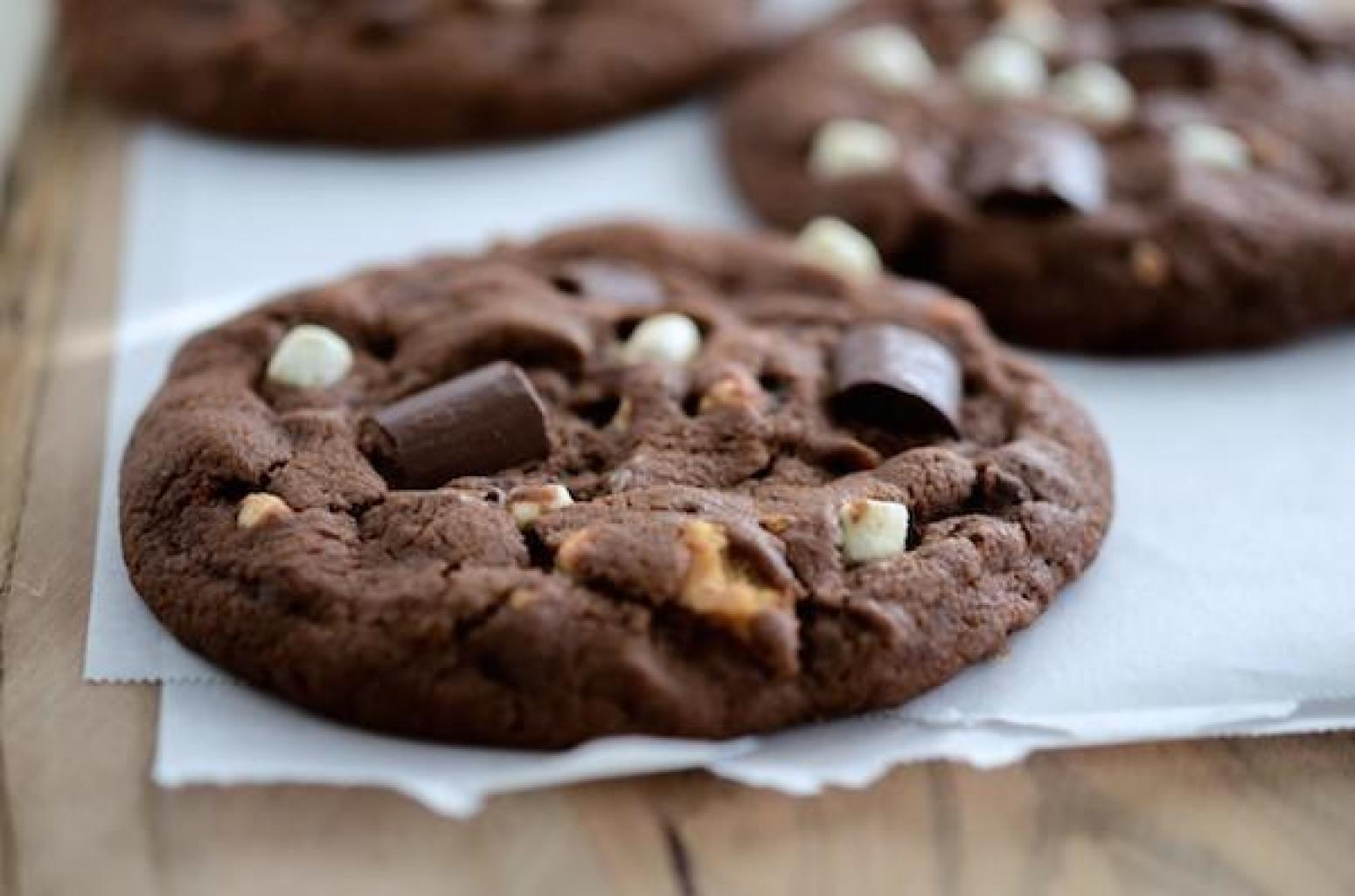 Double Chocolate S'Mores Cookies Recipe | Just A Pinch Recipes