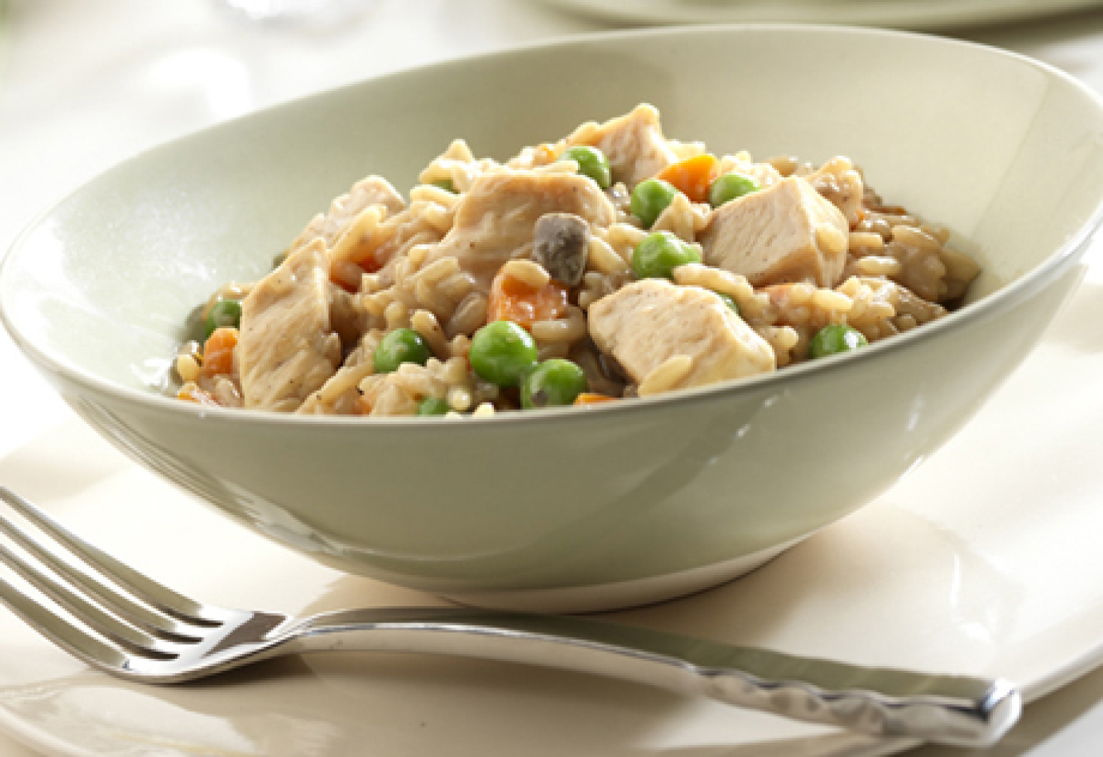 Campbell S Chicken Mushroom Risotto Recipe Just A Pinch