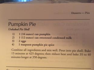 4 Ingredient Pumpkin Pie Recipe