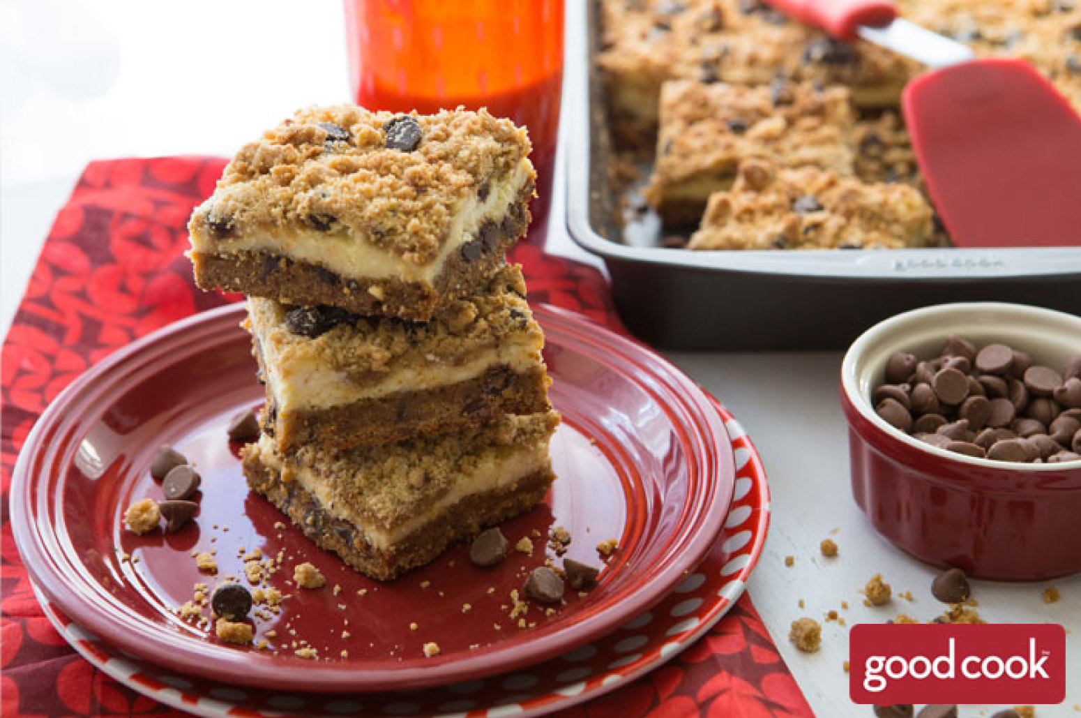 Cream Cheese Stuffed Peanut Butter Chocolate Chip Cookie Bars Recipe ...