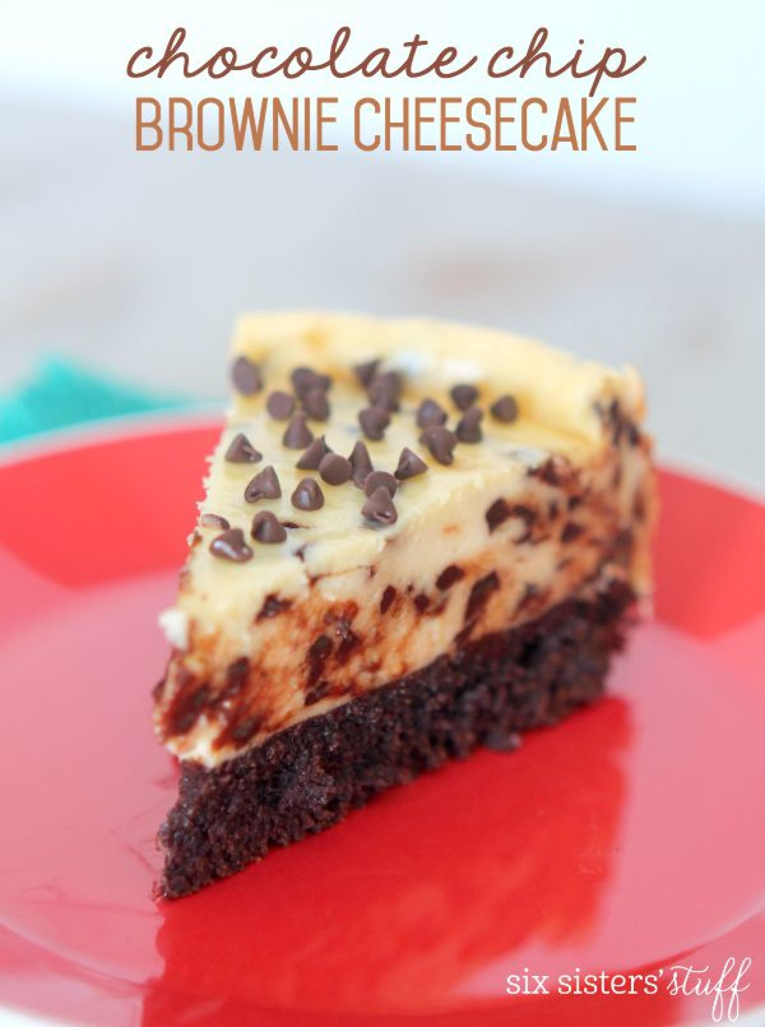 Chocolate Chip Brownie Cheesecake Recipe | Just A Pinch ...