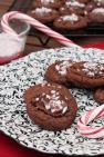 Peppermint & Dark Chocolate PB Thumbprint Cookies Recipe