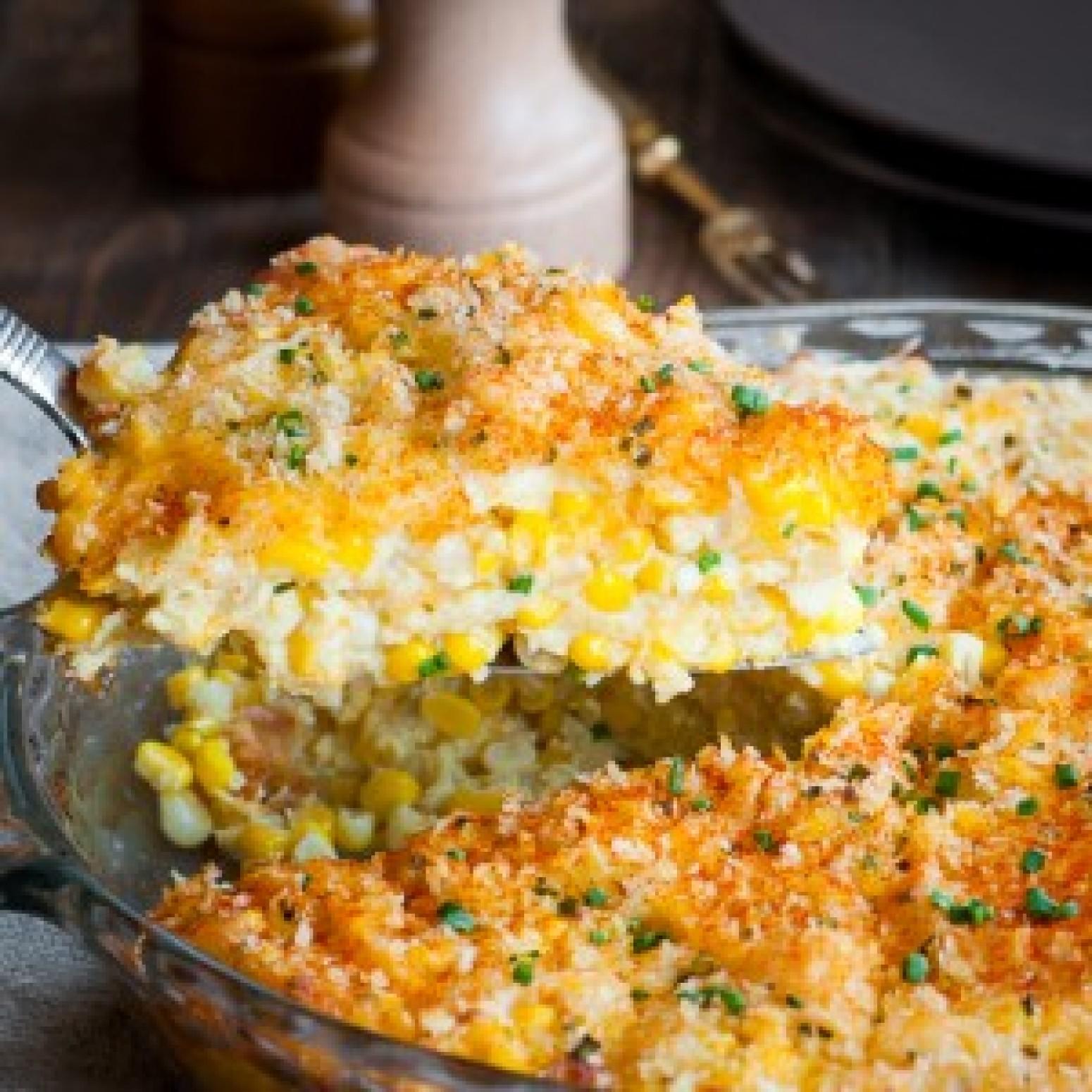 Cheddar Sweet Corn Pie Recipe | Just A Pinch Recipes