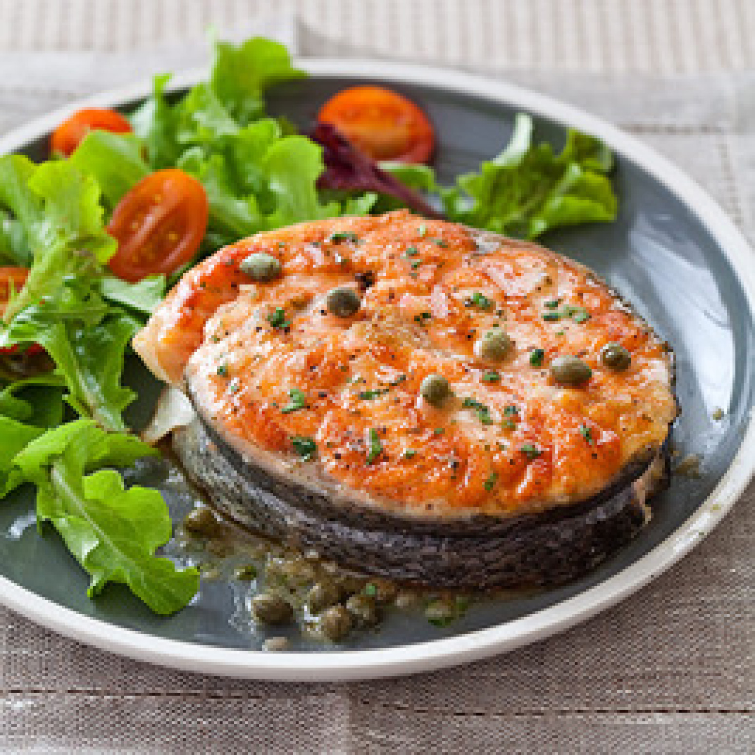 Grilled Salmon Steaks With LemonCaper Sauce Recipe