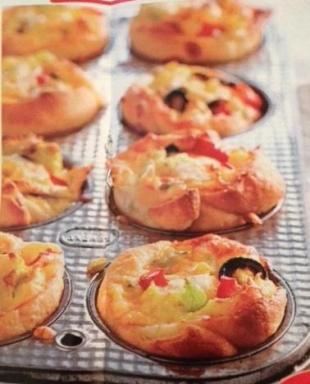 Triple Cheese Veggie Rolls (Or Breakfast Muffins) Recipe