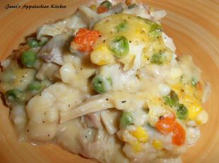 Chicken and Dumpling Casserole with Veggies Recipe