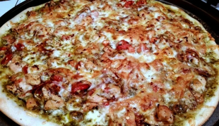 ~ Crazy Delicious Chicken Pesto Pizza ~ Recipe