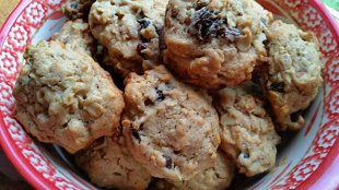 ~ Oatmeal ~ Raisin ~  Nut  Cookies ~ Recipe
