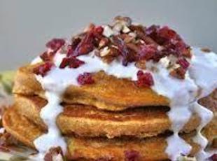 Sweet Potato Pancakes/w Marshmallow Sauce Recipe