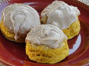 Pumpkin Whole Wheat Fluffy Biscuit