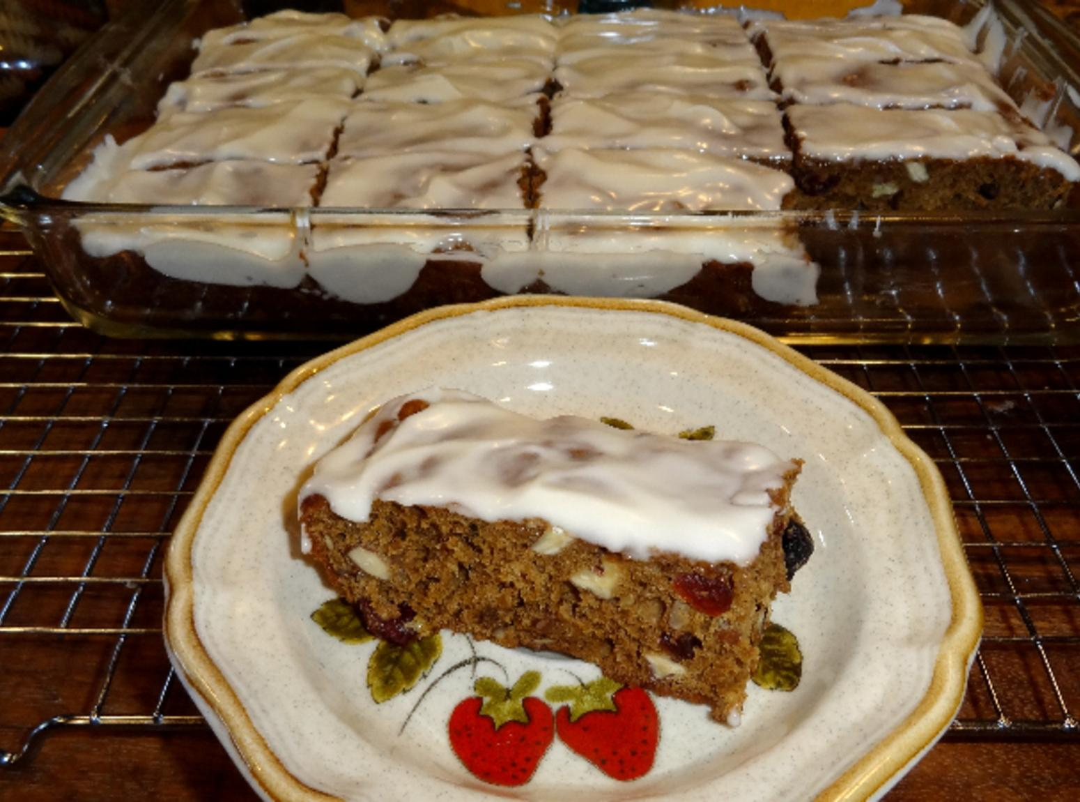 FRUIT AND NUT BARS WITH RUM ICING--BONNIE'S Recipe