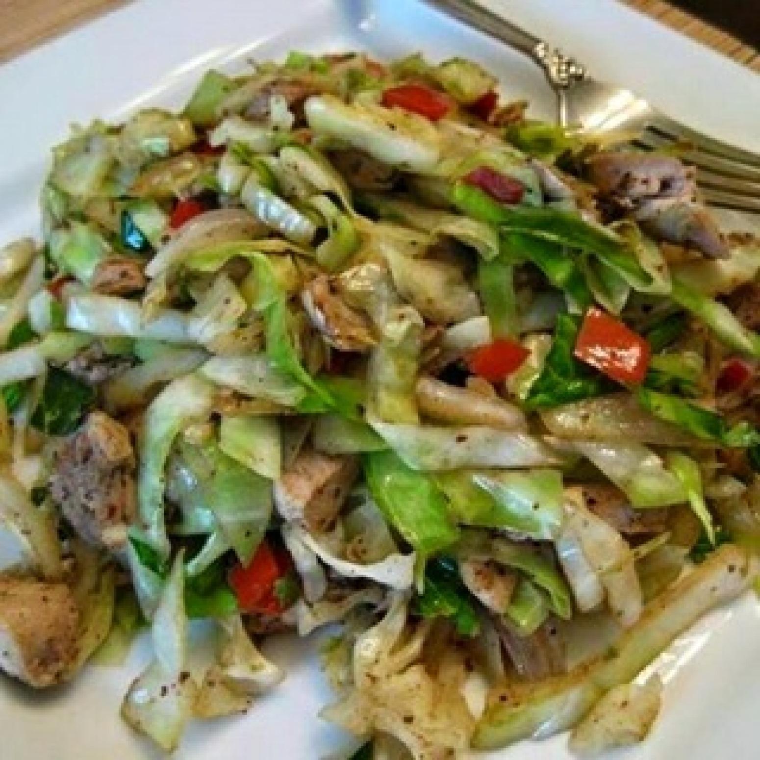 Red Cabbage And Fried Mortadella Okonomiyaki Recipes: CHICKEN AND CABBAGE Recipe