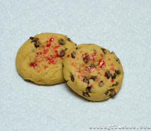 Vanilla Bean Chocolate Chip Candy Cane Cookies Recipe