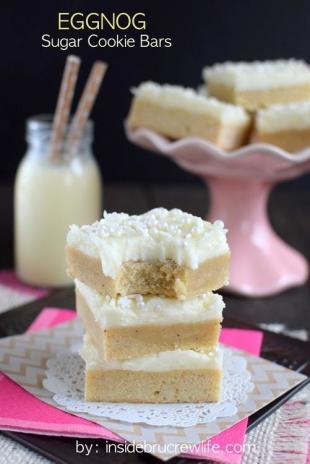 Eggnog Sugar Cookie Bars Recipe