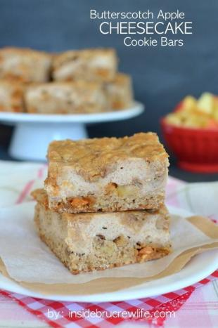 Butterscotch Apple Cheesecake Cookie Bars Recipe
