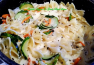 ~ Farfalle, Vegetables In Garlic Basil Sauce ~ Recipe