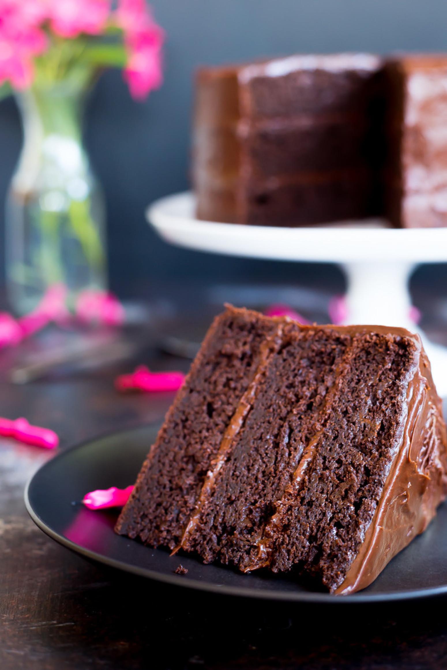 Gluten Free Three Layer Chocolate Cake Recipe | Just A Pinch Recipes