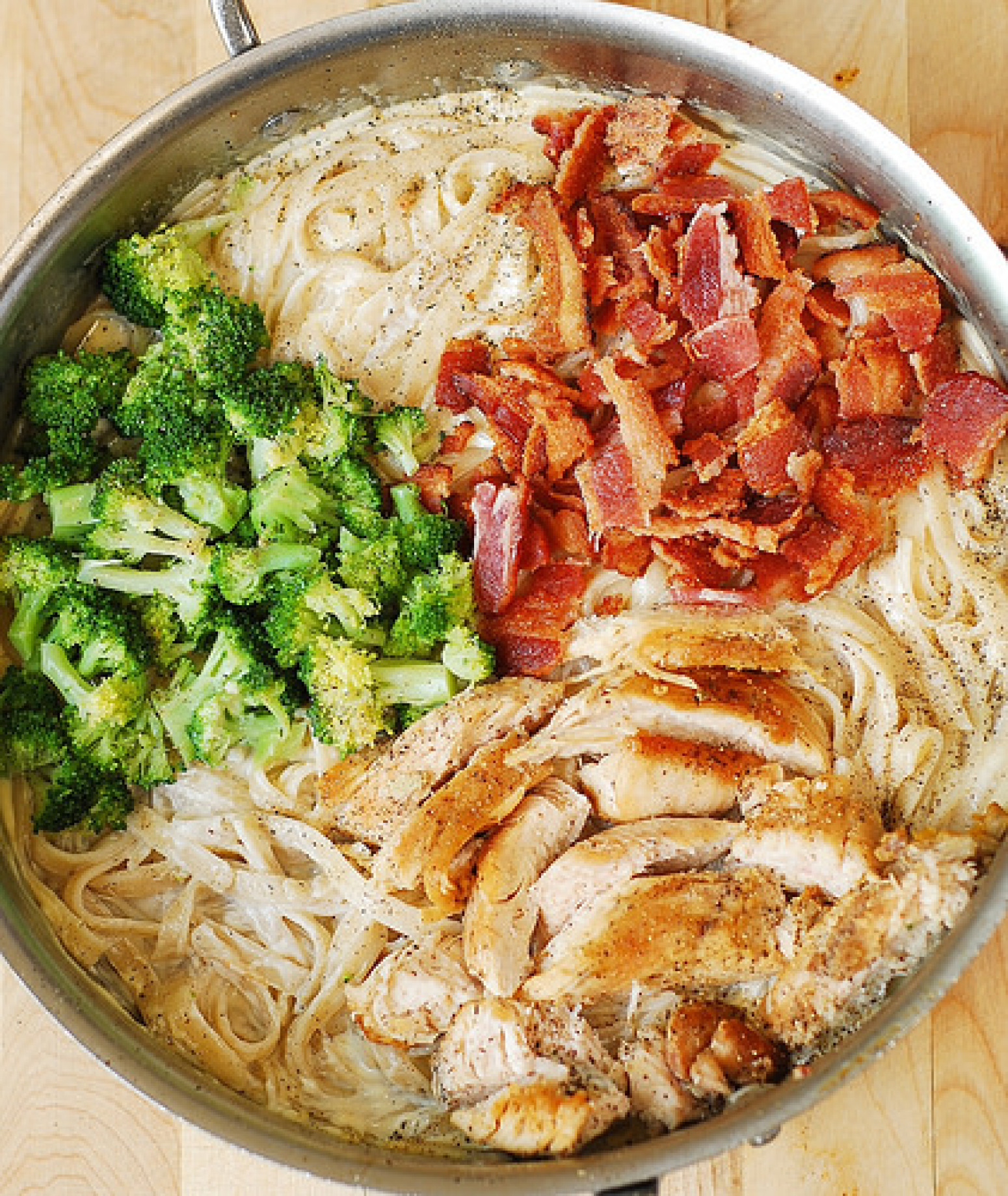 Creamy Broccoli, Chicken, and Bacon Pasta Recipe 3 | Just A Pinch ...
