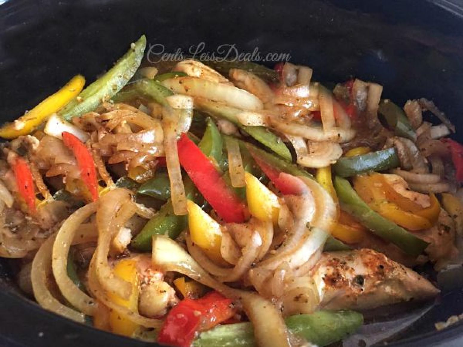 Crockpot Chicken Fajitas recipe | Just A Pinch Recipes