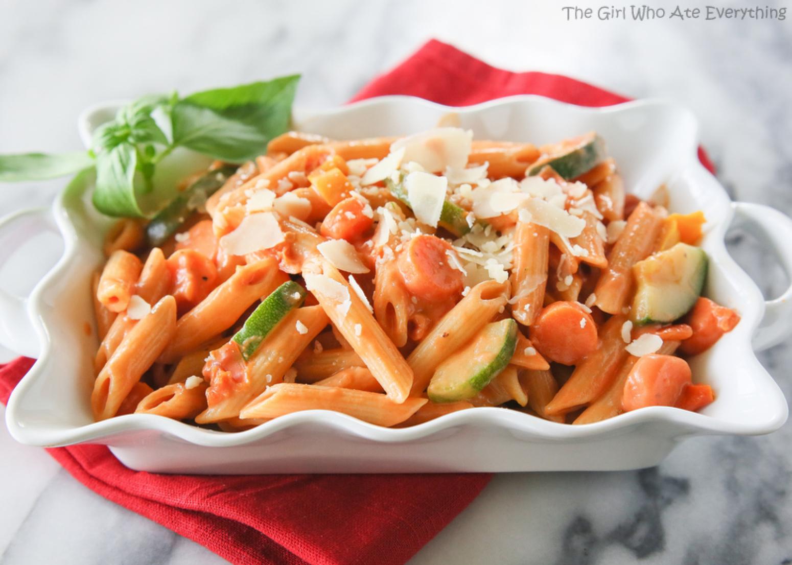 Creamy Pasta Primavera Recipe 4 | Just A Pinch Recipes