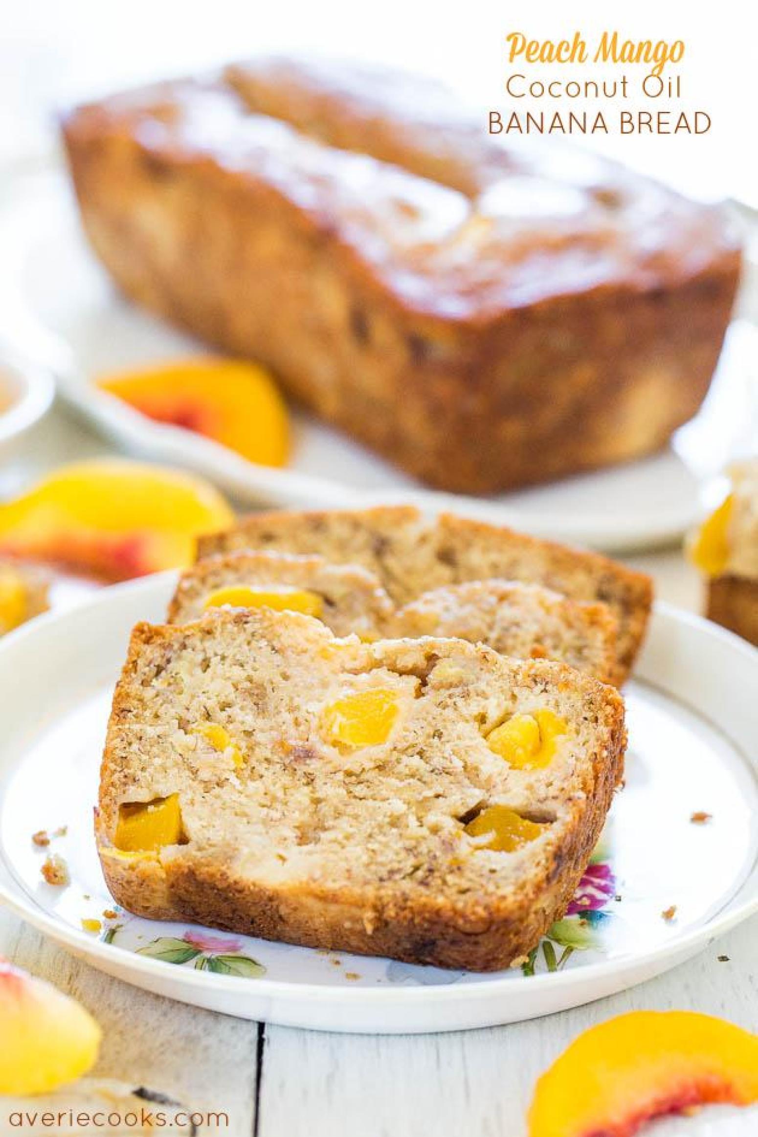 Peach Mango Coconut Oil Banana Bread Recipe Just A Pinch