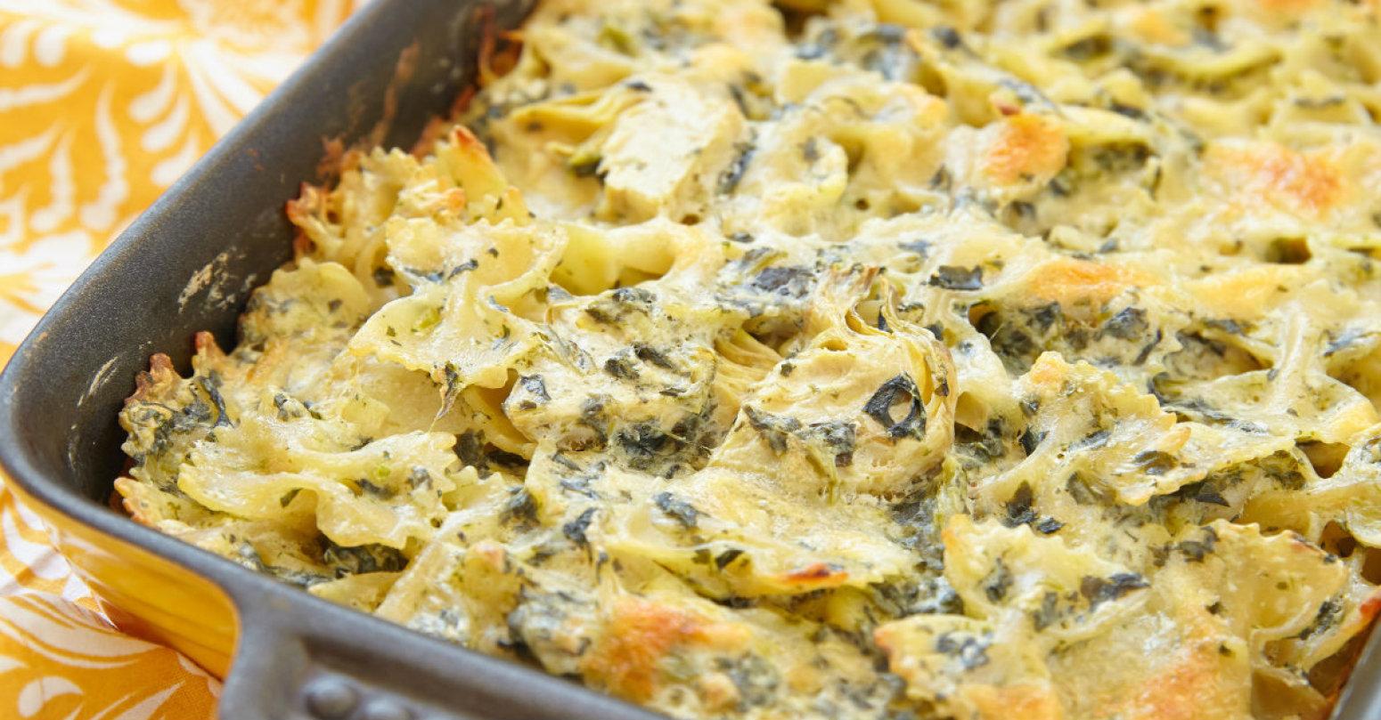 Spinach Artichoke Dip Pasta Recipe 4 | Just A Pinch Recipes