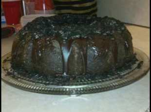 Oreo Cookie Fudge Bundt Cake! Recipe