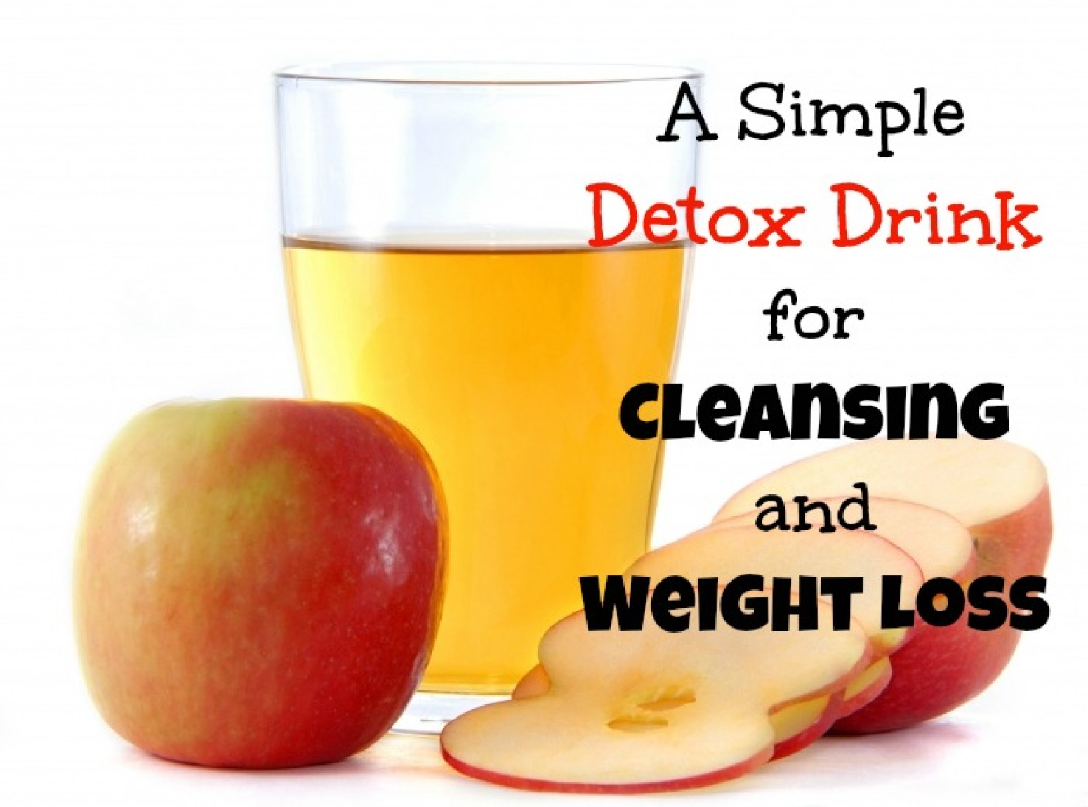 Detox drink for cleansing and weight loss recipe just a for Cocktail detox
