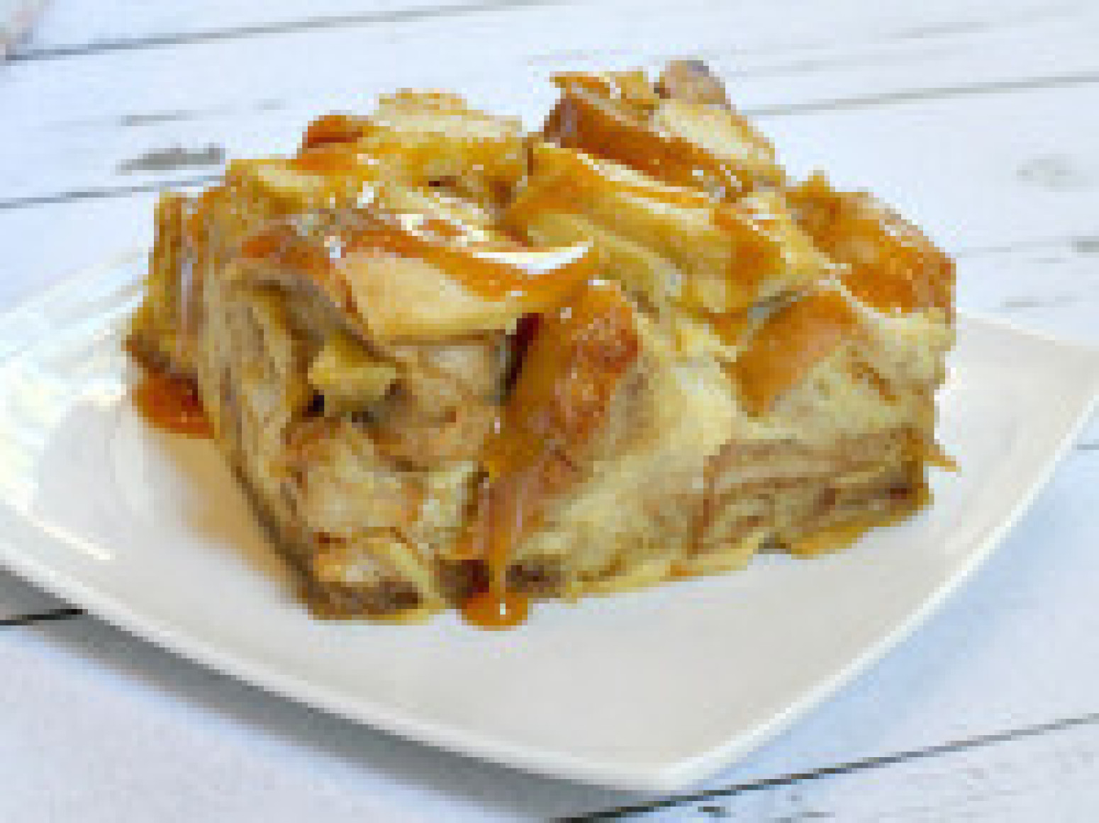 Caramel Apple Bagel Bread Pudding Recipe | Just A Pinch Recipes