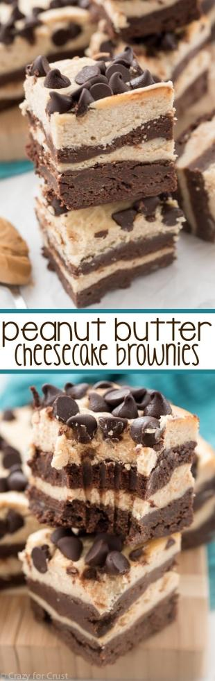 Peanut Butter Cheesecake Brownies Recipe