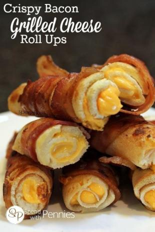 Crispy Bacon Grilled Cheese Roll Ups Recipe