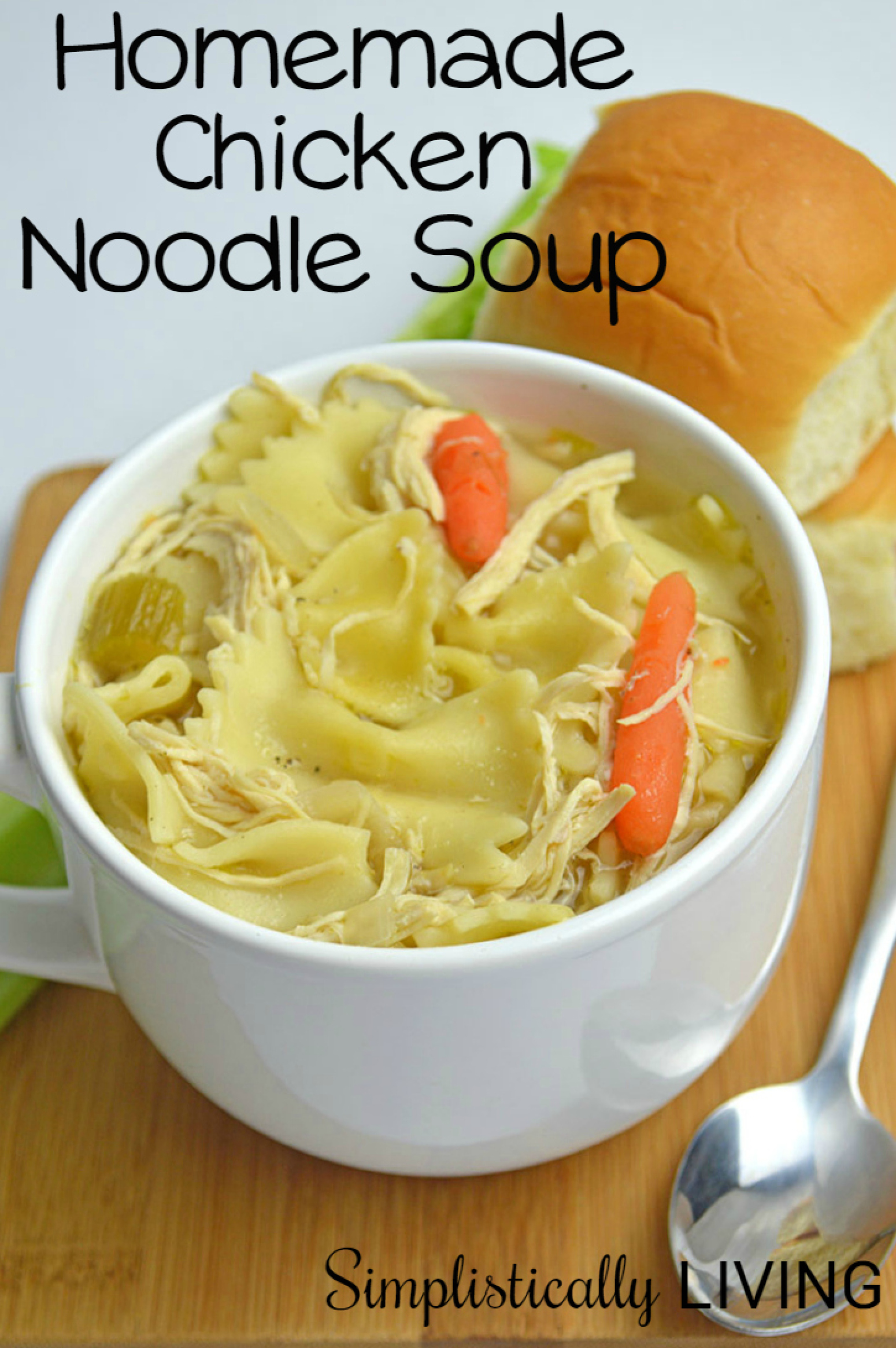 Slow cooker homemade chicken noodle soup recipe just a for How to make homemade chicken noodle soup