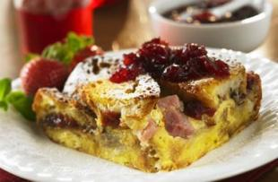 Ocean Spray Cranberried Monte Cristo Strata Recipe