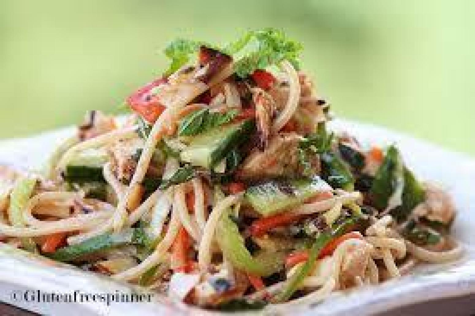 noodle salad asian chicken noodle salad with ginger peanut dressing ...