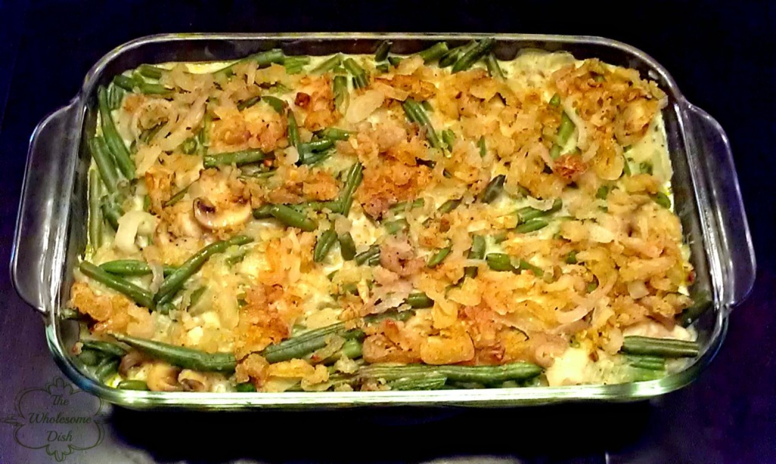 Scratch Made Green Bean Casserole with Crispy Shallot Topping Recipe ...