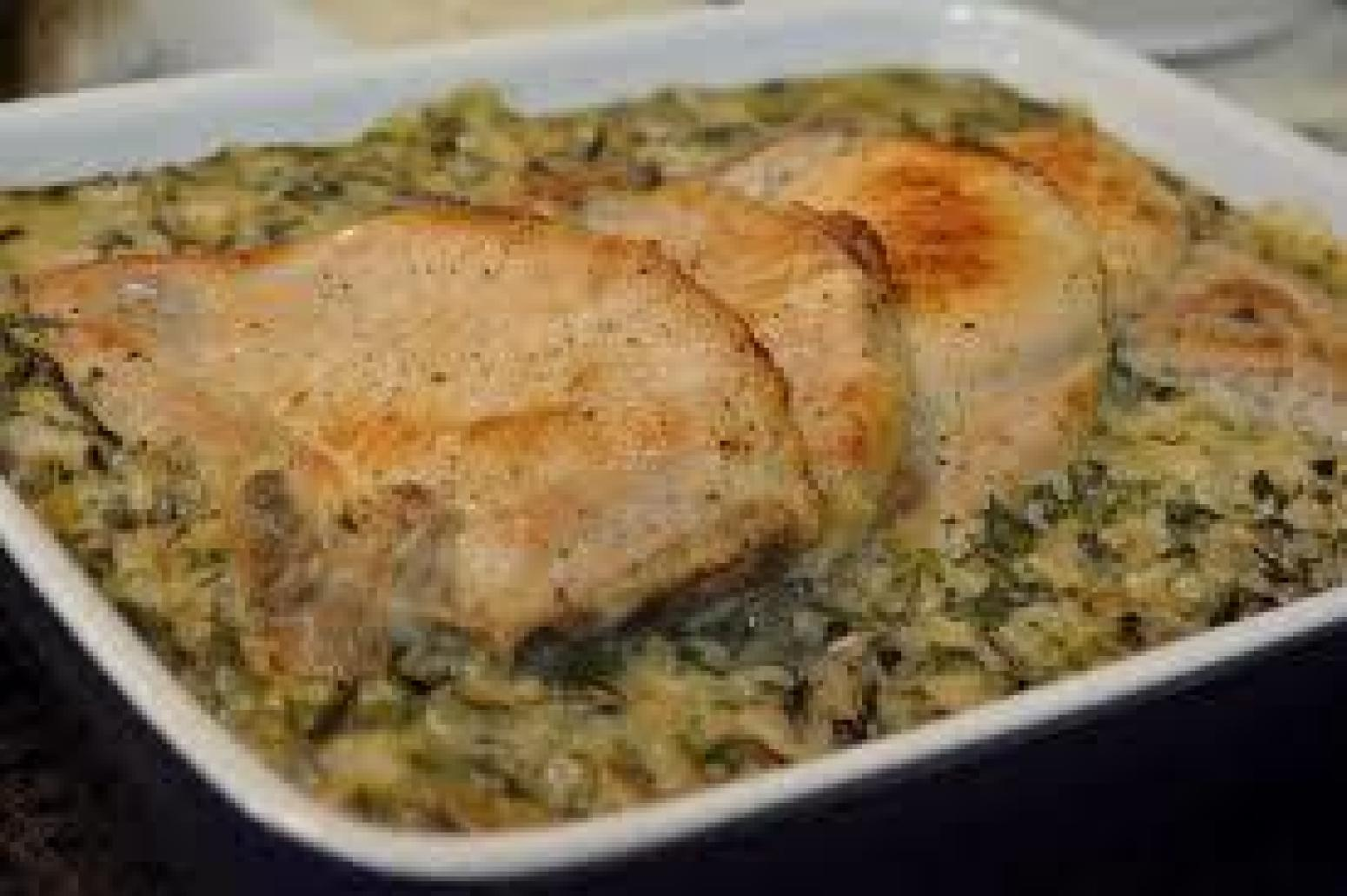 Pork chop and wild rice casserole recipe just a pinch for M kitchen world chop wash