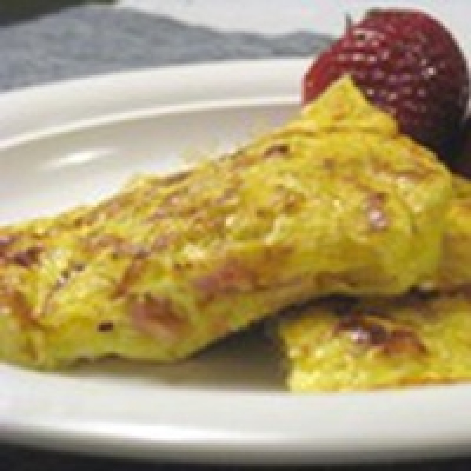 Low Calorie Ham and Cheese Omelet Recipe | Just A Pinch Recipes