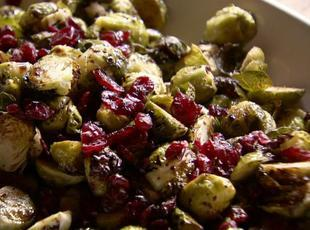Balsamic brussels sprouts with cranberries Recipe