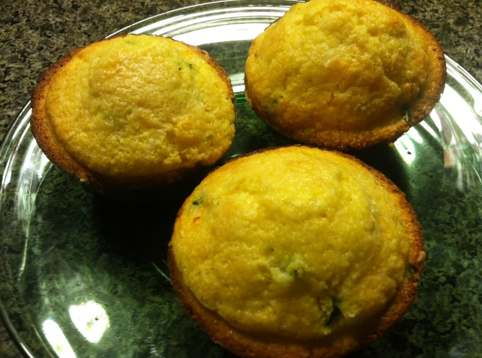 Three Cheese Kickin Corn Muffins Recipe