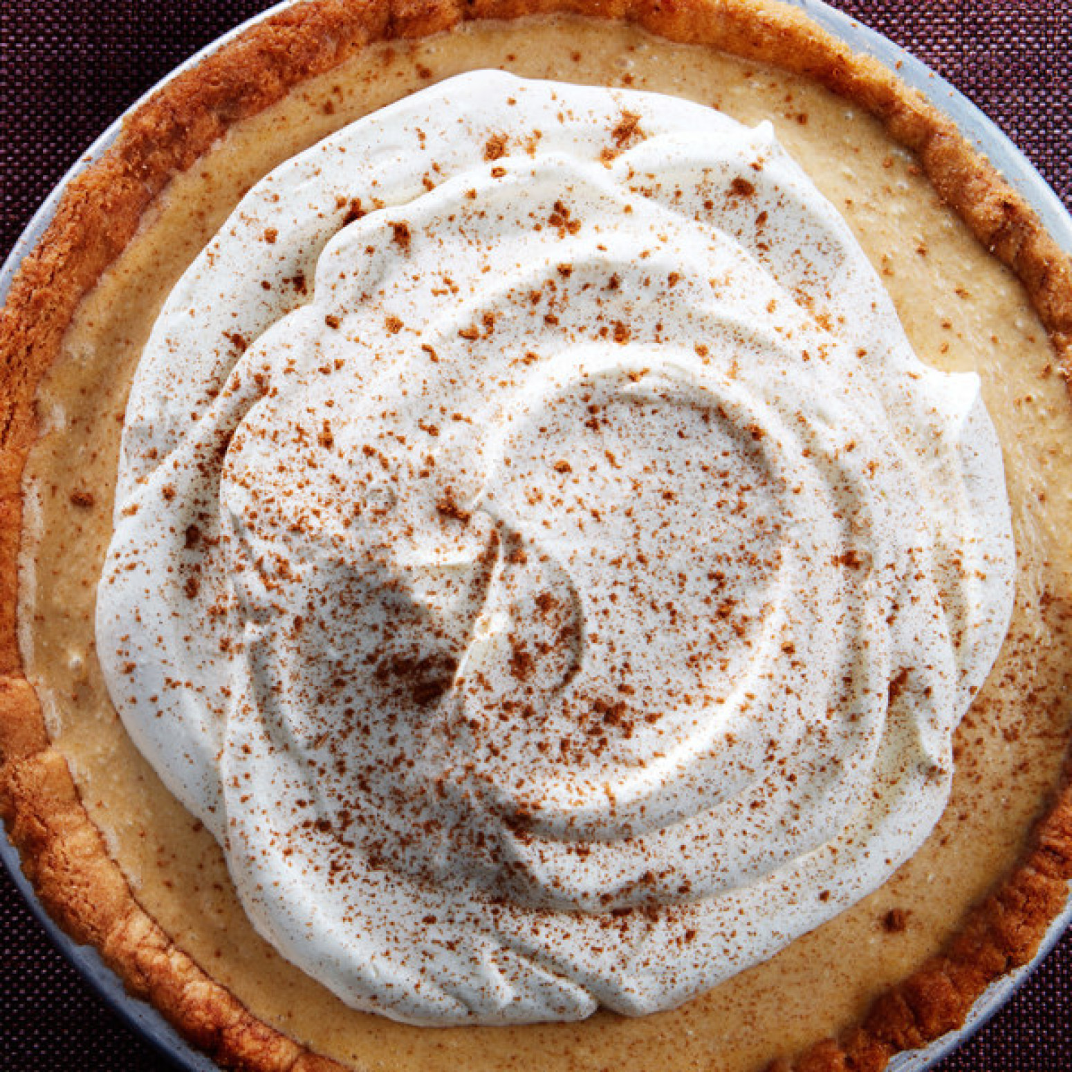 Pumpkin Icebox Pie With Snickerdoodle Crust Recipe 8 | Just A Pinch ...