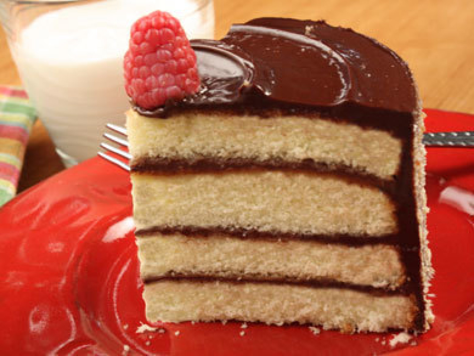 Vanilla Cake with Chocolate Cream Cheese Frosting Recipe ...