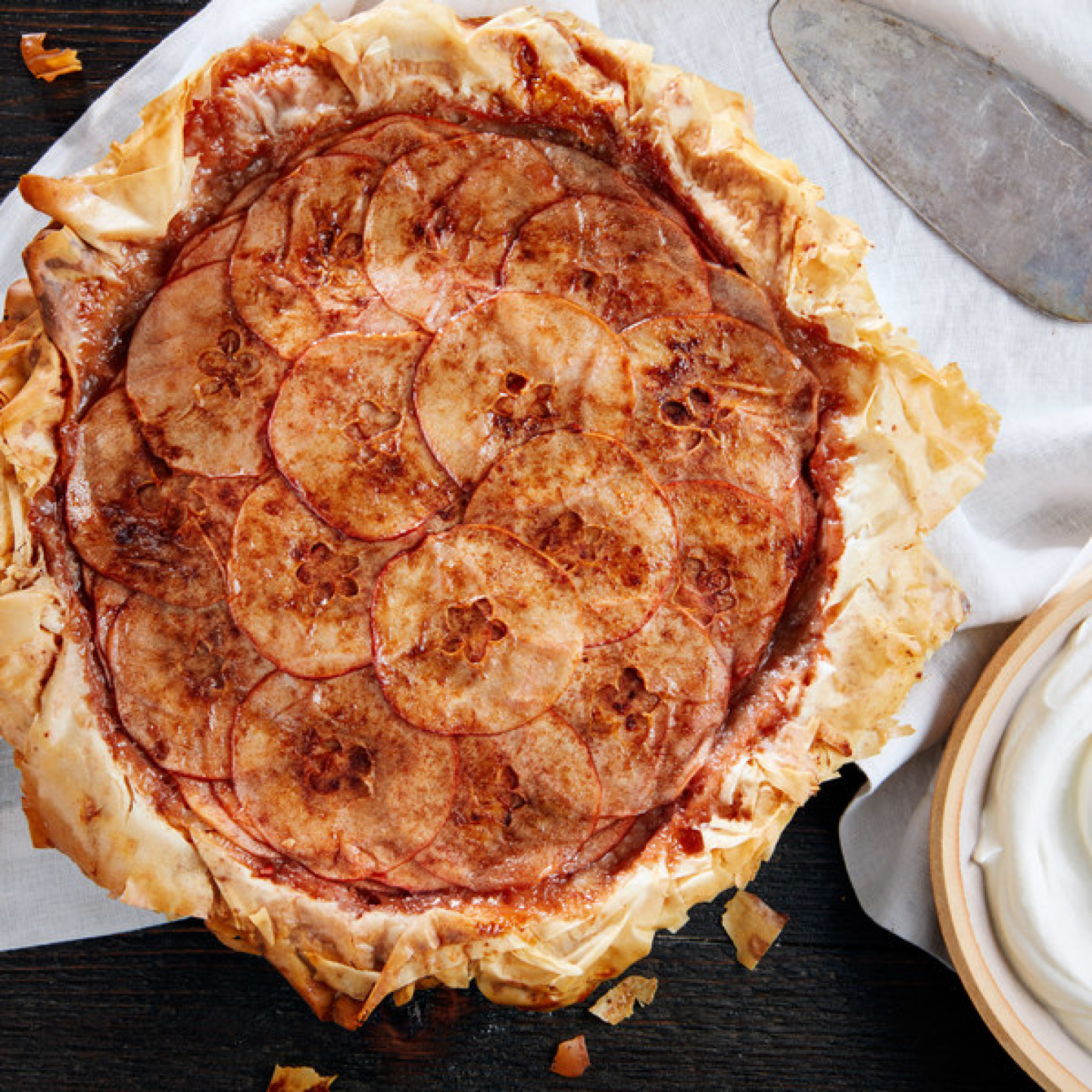 Layered Apple Pie With Phyllo Crust Recipe | Just A Pinch Recipes