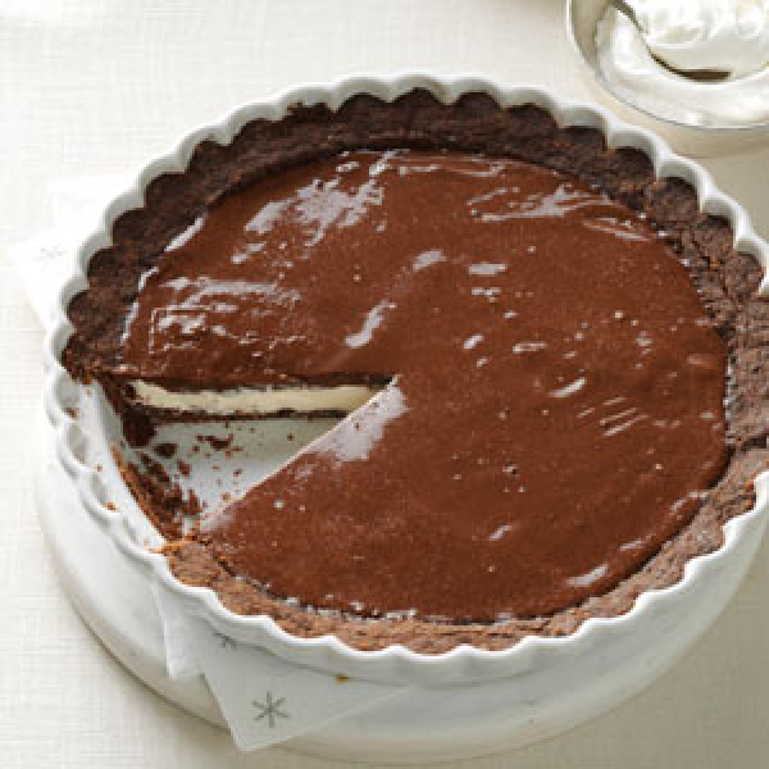 Chocolate Eggnog Pie Recipe | Just A Pinch Recipes
