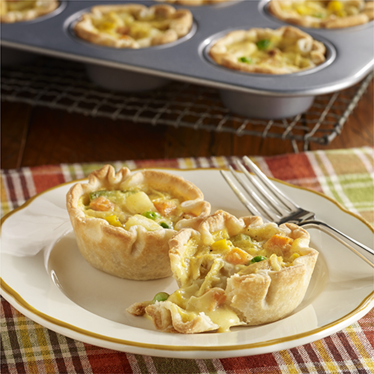 Easy Mini Chicken Pot Pies Recipe 2 | Just A Pinch Recipes