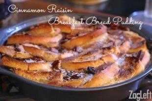 Cinnamon Raisin Breakfast Bread Pudding