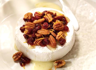 Warm Brie with Dried Cranberries and Pecans Recipe