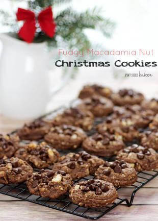 Fudgy Macadamia Nut Christmas Cookies Recipe