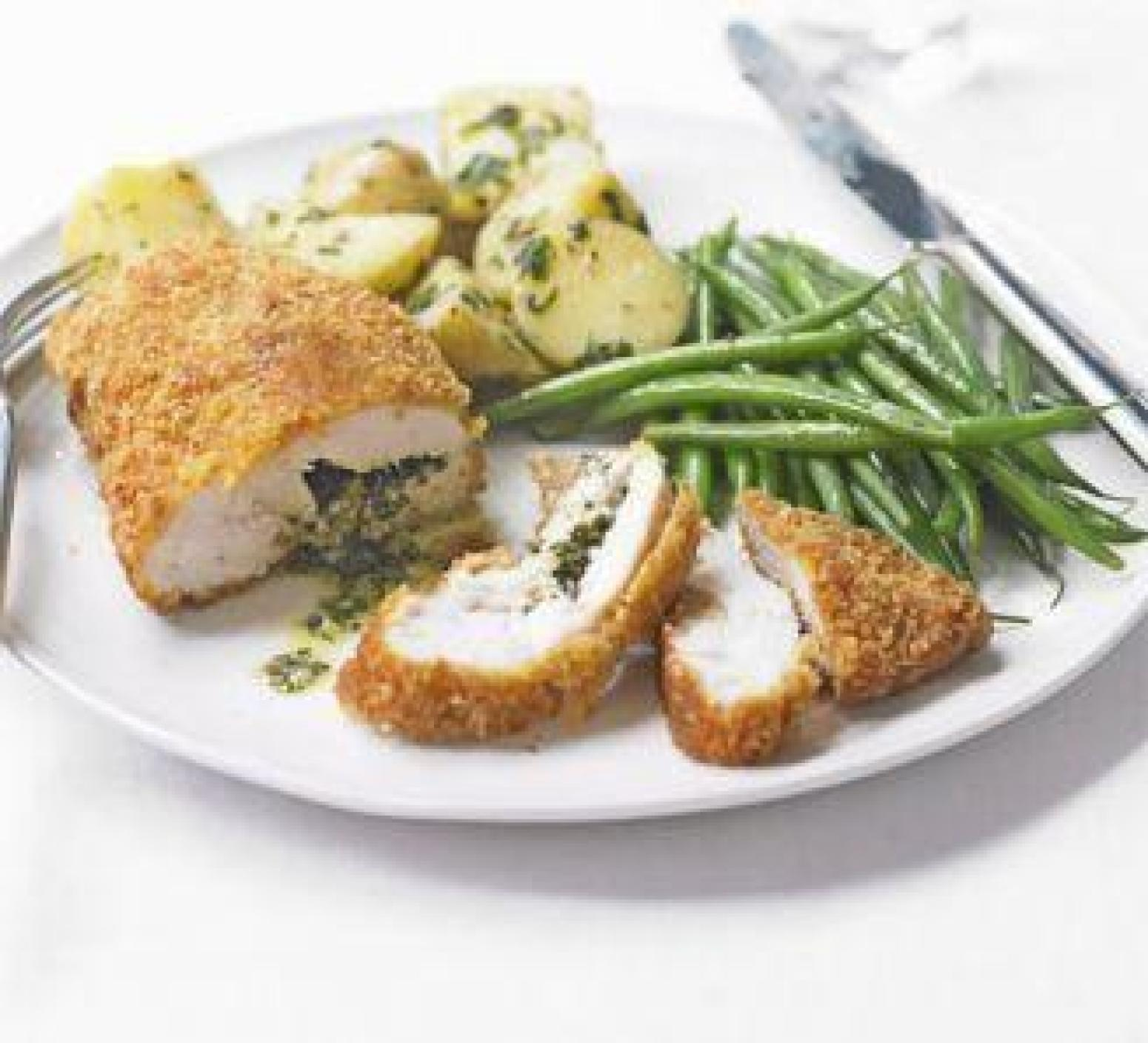Light Chicken Kiev 4 servings Recipe | Just A Pinch Recipes