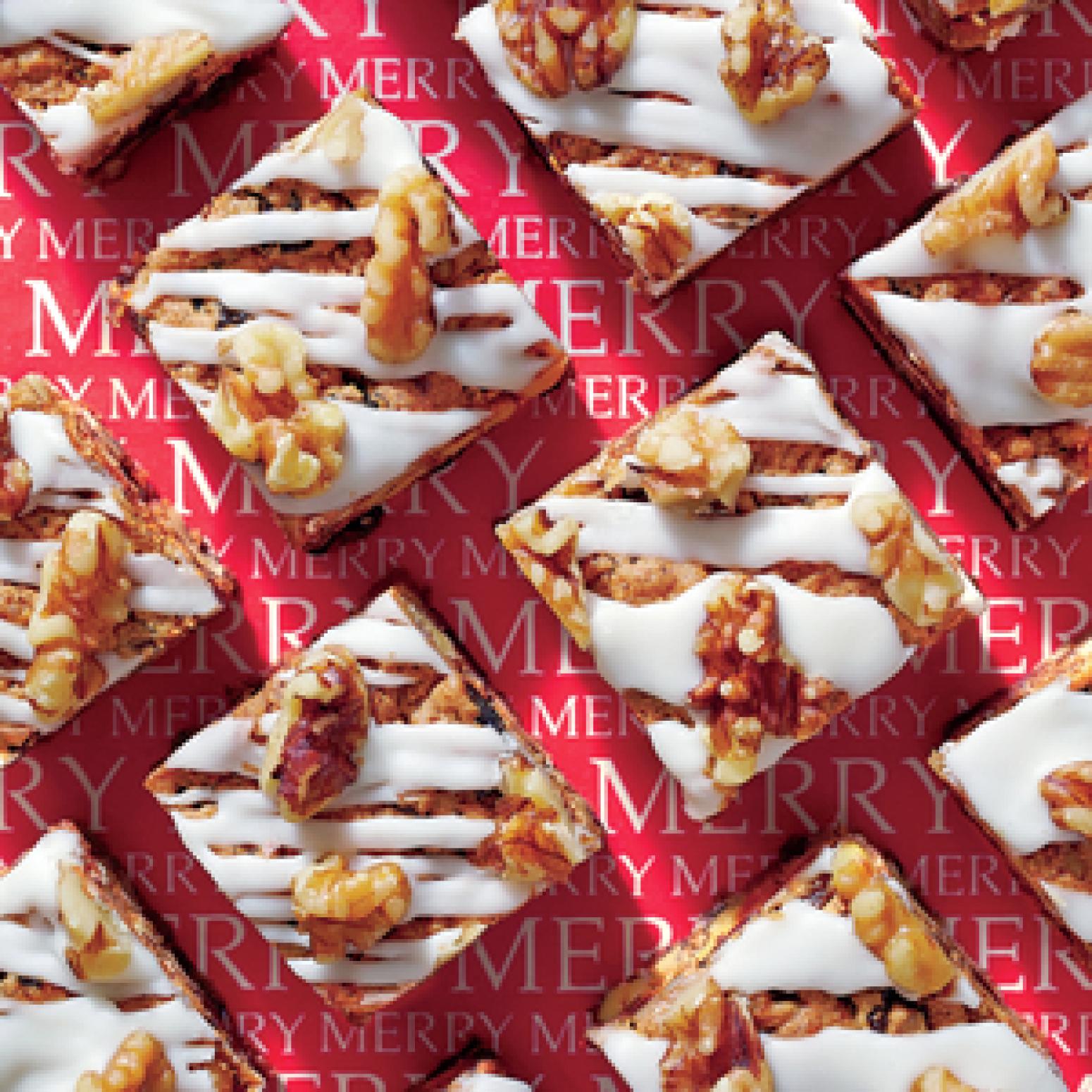 Glazed Fruitcake Bars Recipe | Just A Pinch Recipes