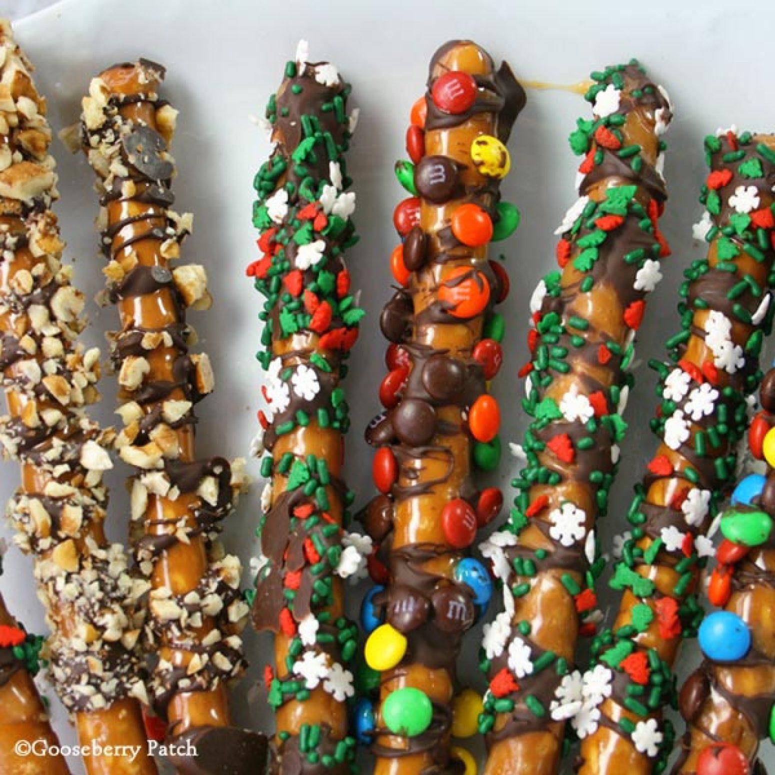 Chocolate Pretzel Logs Dunmore Candy Kitchen: CaramelChocolate Pretzel Rods Recipe 2